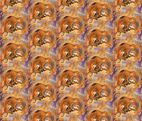 cave_painting fabric by arianagirl on Spoonflower - custom fabric