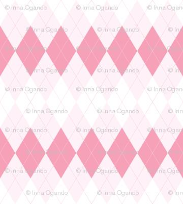 Argyle. Pink.