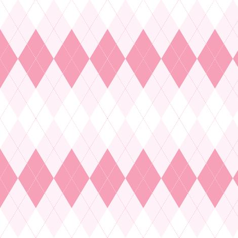 Argyle. Pink. fabric by innaogando on Spoonflower - custom fabric