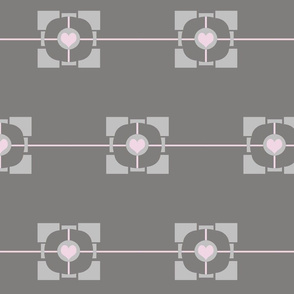 Minimalist Portal Companion Cube