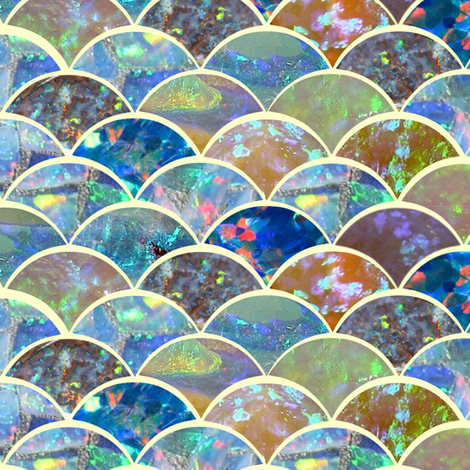 opal wave fabric by lauredesigns on Spoonflower - custom fabric