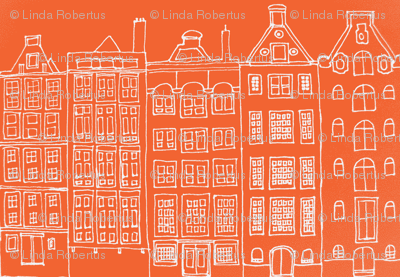 DutchHouses white on orange