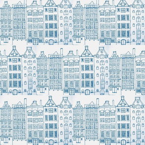 DutchHouses blue on white