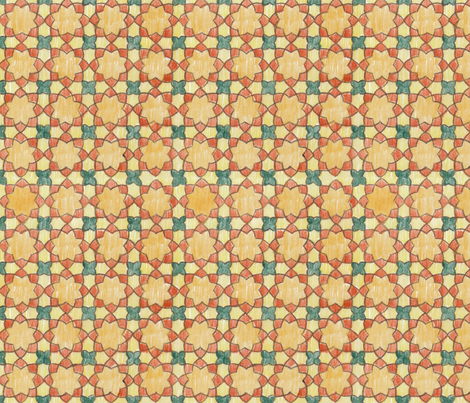 Multi-colored Rounded Octagons (Medium) fabric by fussypants on Spoonflower - custom fabric