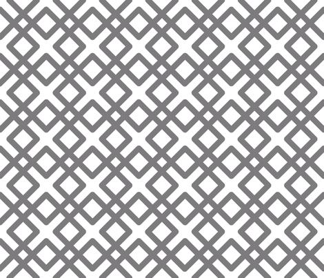 Modern Weave in Steel Gray fabric by pearl&phire on Spoonflower - custom fabric
