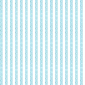 Gate Stripe White on Blue