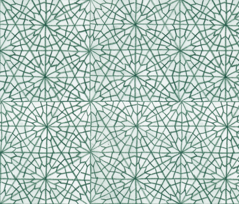 Middle Eastern Geometric Flowers (Colored Pencil-Large) fabric by fussypants on Spoonflower - custom fabric