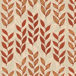 Layered Minoan grasses on bone linen weave by Su_G