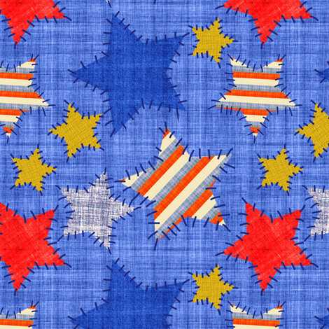 americana_patches_jpg-01 fabric by vo_aka_virginiao on Spoonflower - custom fabric