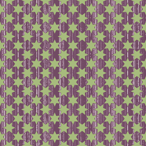 Green Stars & Wine Grain fabric by ruthevelyn on Spoonflower - custom fabric