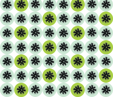 Pomengranate Gets Retro Limed fabric by smuk on Spoonflower - custom fabric