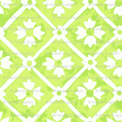 tile flower lime