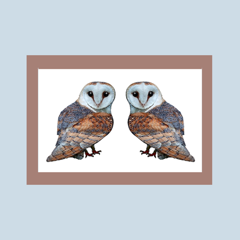 The Owl Collection Barn Owl Tile fabric by nezumiworld on Spoonflower - custom fabric