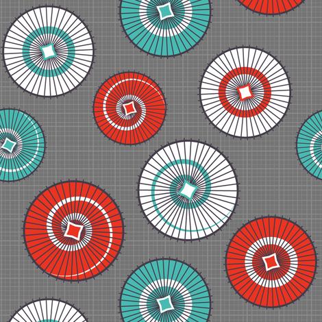 Umbrellas (Grey) fabric by nekineko on Spoonflower - custom fabric