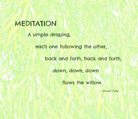 Meditation fabric by anniedeb on Spoonflower - custom fabric