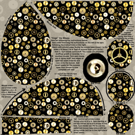 Cogs The Mouse fabric by nezumiworld on Spoonflower - custom fabric