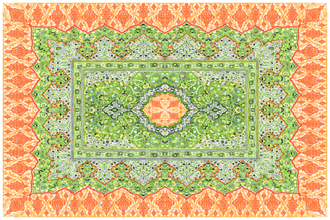 persian knot tea towel orange fabric by keweenawchris on Spoonflower - custom fabric