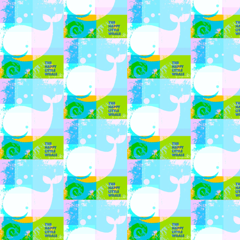 Happy Little Whale Blue/Pink  by evandecraats, 21, June 2012 fabric by _vandecraats on Spoonflower - custom fabric