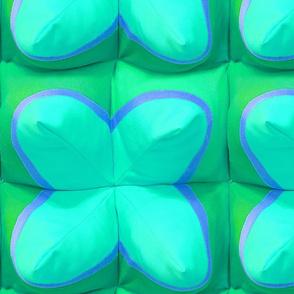 Polytopia trompe l'oeil 3D blue