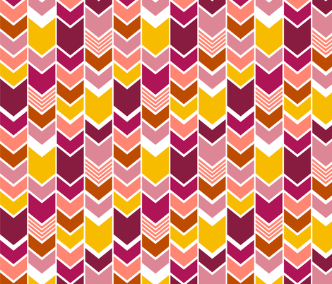 PinkChevron fabric by mrshervi on Spoonflower - custom fabric