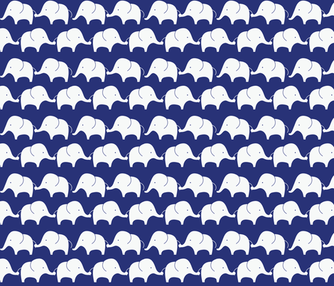 Mod Elephants On Indigo fabric by suryasajnani on Spoonflower - custom fabric