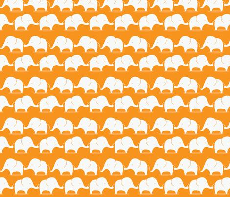 Mod Elephants on orange fabric by suryasajnani on Spoonflower - custom fabric