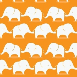 Mod Elephants on orange