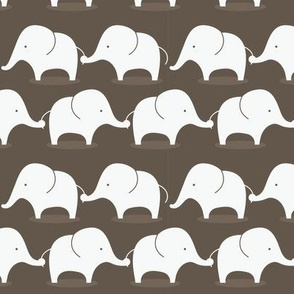 Mod Elephants on Grey