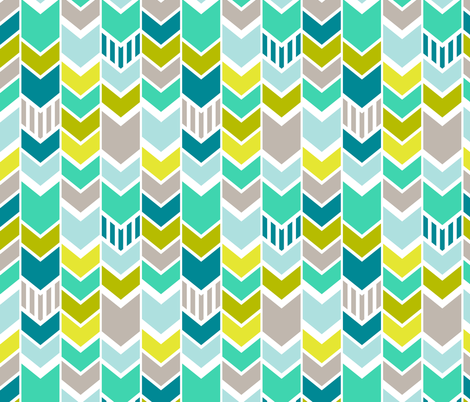 Mod Blue Chevron fabric by mrshervi on Spoonflower - custom fabric