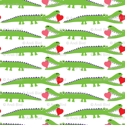 Alligator Love green - small