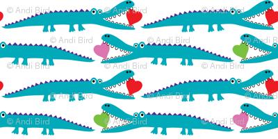 Alligator Love aqua - small