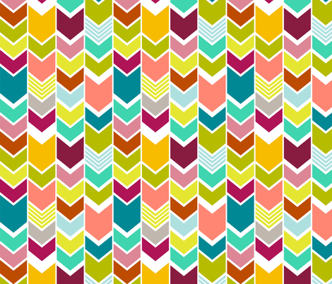 Mod Multicolor Chevron fabric by mrshervi on Spoonflower - custom fabric