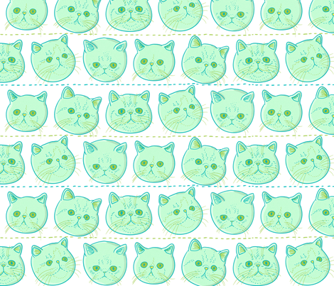 exotic_shorthair fabric by youngcaptive on Spoonflower - custom fabric