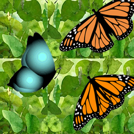 1950s Butterflies are Free fabric by susanferris on Spoonflower - custom fabric