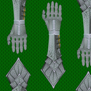 Gauntlets - steel and green