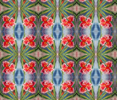 Iris Orange Ruffle _Swatch fabric by tree_of_life on Spoonflower - custom fabric