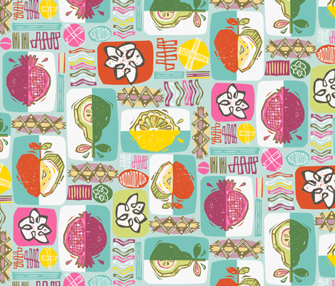 Pom-Print fabric by gsonge on Spoonflower - custom fabric