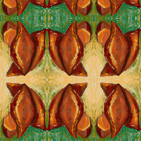 Fresh_Sweet_Potatoes fabric by kkitwana on Spoonflower - custom fabric