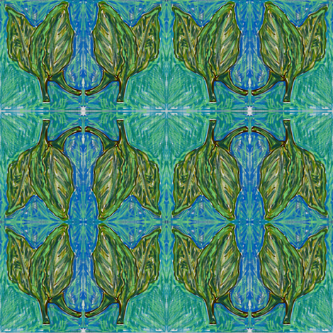 Fresh_Collards fabric by kkitwana on Spoonflower - custom fabric
