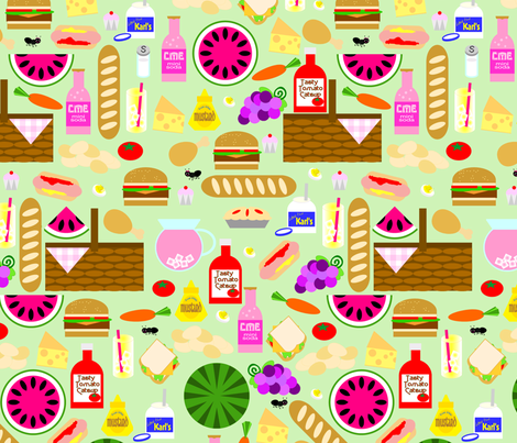 Packed Picnic fabric by plucksduck on Spoonflower - custom fabric