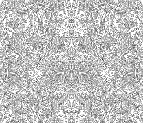 Engraving Paisley fabric by flyingfish on Spoonflower - custom fabric