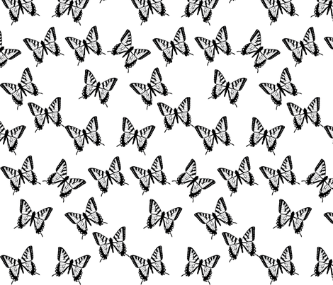 Scattered Butterflies fabric by terriaw on Spoonflower - custom fabric