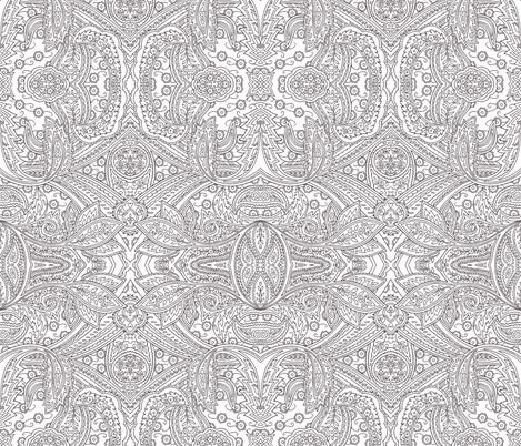 Engraving Paisley plum fabric by flyingfish on Spoonflower - custom fabric