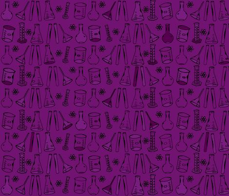 Chemistry Lab Purple fabric by nocodazole on Spoonflower - custom fabric