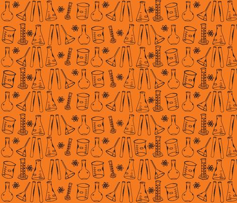 Chemistry Lab Orange fabric by nocodazole on Spoonflower - custom fabric