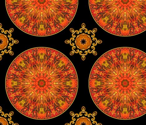 Jeweled_Medallions_C fabric by needlesongs on Spoonflower - custom fabric