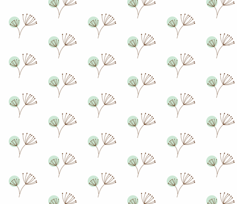 Dandelion Days fabric by smuk on Spoonflower - custom fabric