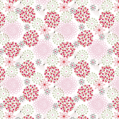 starryflowers fabric by cherished_dreams on Spoonflower - custom fabric