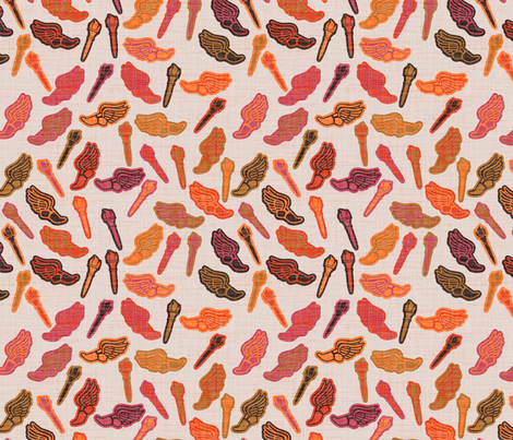 Marathon - red fabric by spacefem on Spoonflower - custom fabric