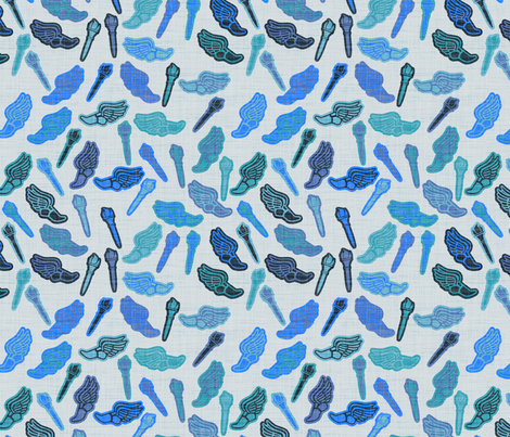 Marathon - blue fabric by spacefem on Spoonflower - custom fabric